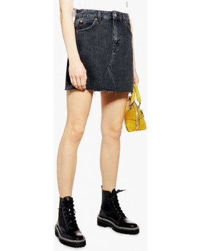 Джинсовая юбка черная турецкий Topshop