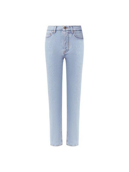 Прямые хлопковые синие прямые джинсы Two Women In The World