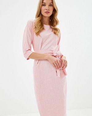Платье розовое прямое Bezko
