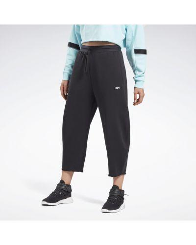 Флисовые спортивные брюки - черные Reebok
