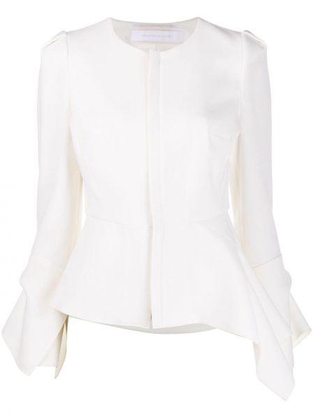 Шерстяной приталенный белый пиджак Roland Mouret
