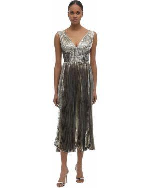 Платье миди шифоновое с кружевными рукавами Maria Lucia Hohan