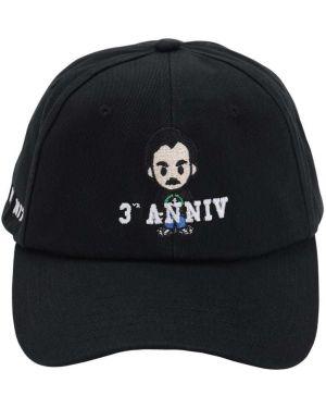 Czarny kapelusz bawełniany z haftem Ih Nom Uh Nit