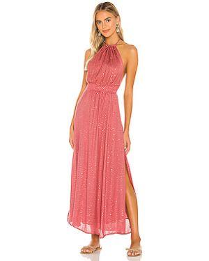 Фиолетовое платье макси с декольте на бретелях Sundress
