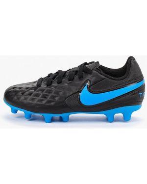Бутсы кожаные черный Nike