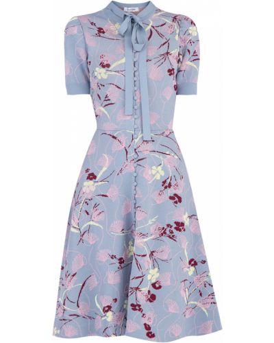 Платье на пуговицах с драпировкой Valentino