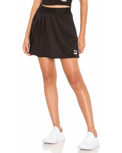 Плиссированная юбка - черная Puma