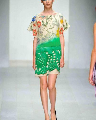 Шелковое платье на молнии Prada