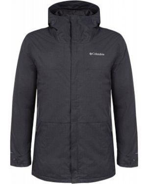Спортивная теплая нейлоновая черная утепленная куртка Columbia
