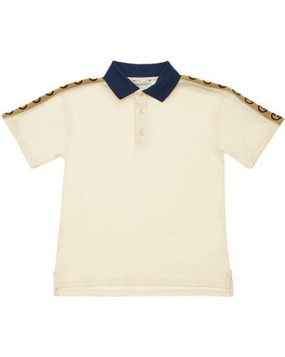 Klasyczny bawełna biały koszula z kołnierzem Gucci