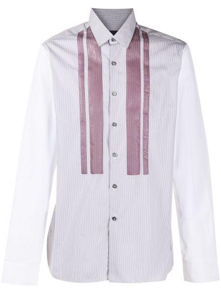 Koszula z długim rękawem klasyczna w paski Lanvin