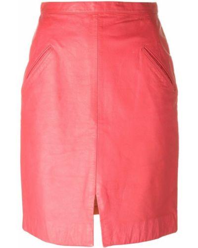 Прямая розовая юбка мини на молнии винтажная Stephen Sprouse Pre-owned