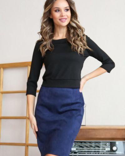Повседневная с рукавами блузка с вырезом Ellcora
