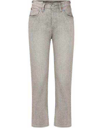 Серые укороченные джинсы с карманами Levi's Red Tab