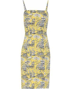 Летнее платье из поплина желтый Staud