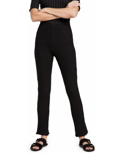 Prążkowane czarne spodnie Simon Miller