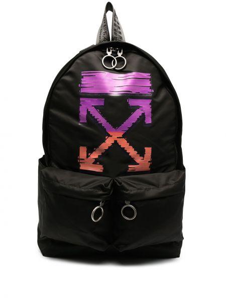 Czarny plecak bawełniany Off-white
