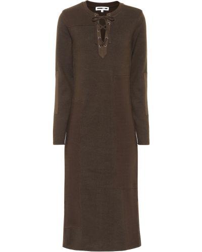 Платье макси длинное - зеленое Mcq Alexander Mcqueen