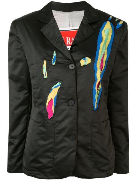 Черный пиджак с карманами на пуговицах Charles Jeffrey Loverboy