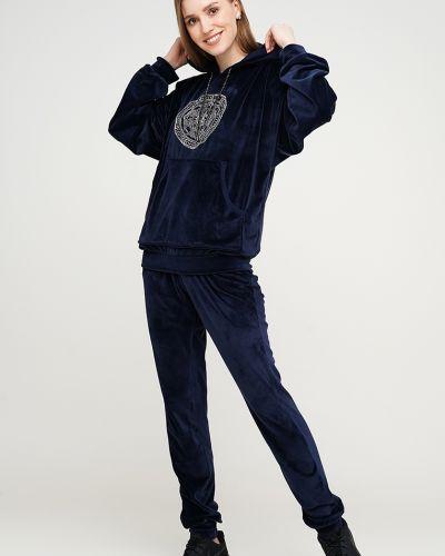 Велюровый спортивный костюм - синий Modniy Oazis