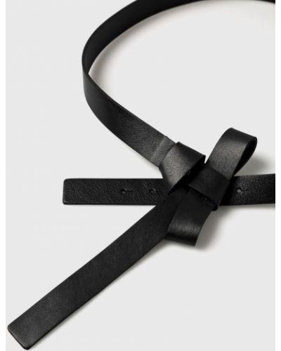 Черный ремень кожаный Vero Moda