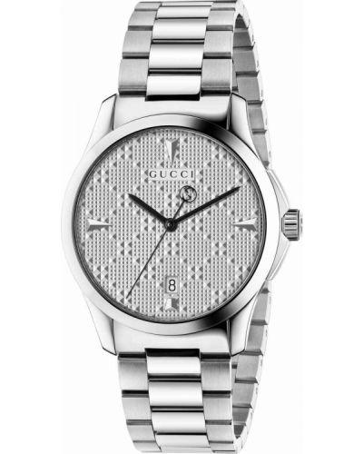 Серебряные часы водонепроницаемые Gucci