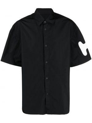 Klasyczna czarna klasyczna koszula krótki rękaw Heron Preston