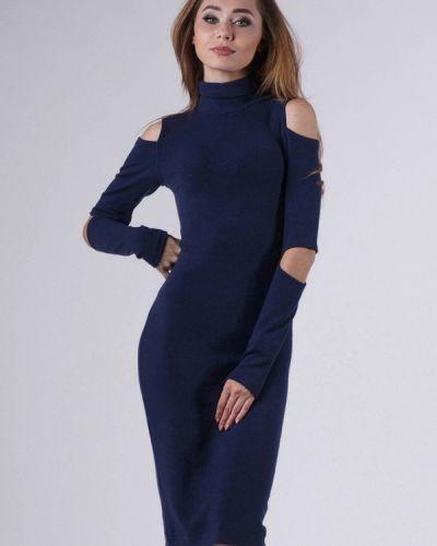 Платье осеннее синее Evercode