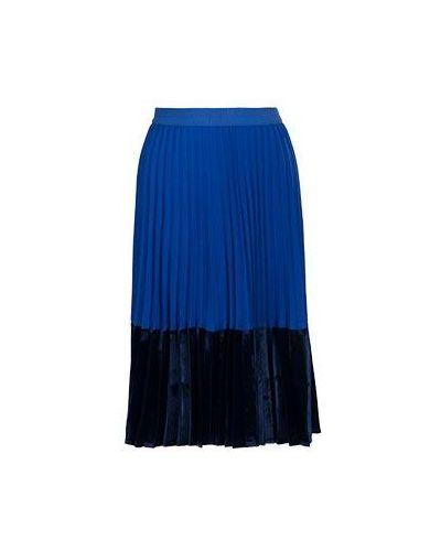 Синяя юбка миди Pinko