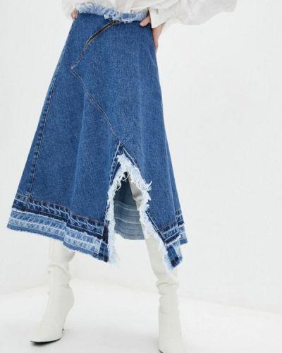 Синяя джинсовая юбка Whynotdenim