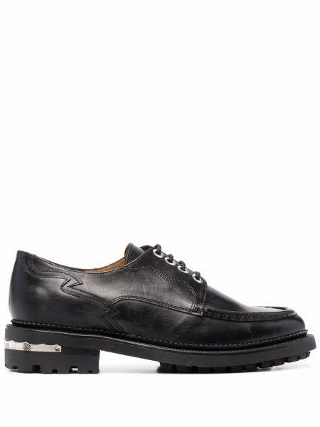 Кожаные черные оксфорды на шнуровке Toga Pulla