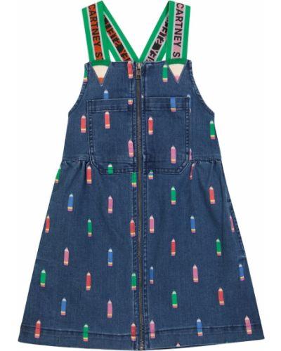 Джинсовое платье - синее Stella Mccartney Kids