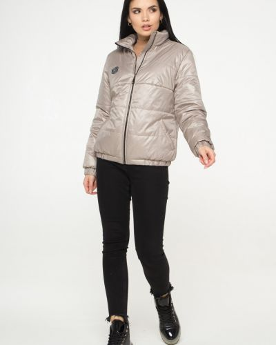 Утепленная короткая куртка с воротником свободного кроя Caramella