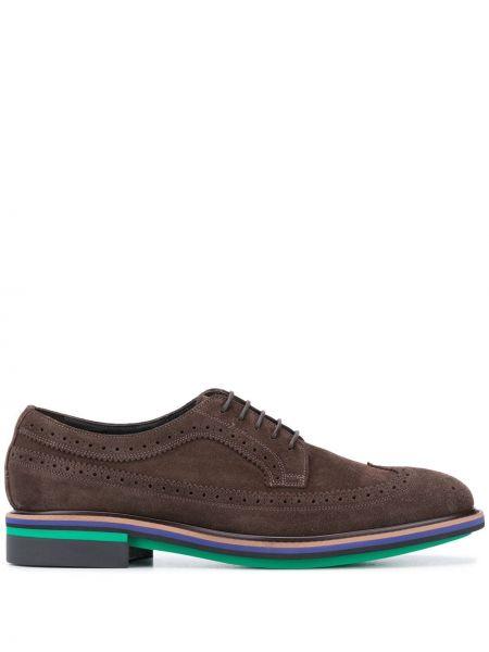 Кожаные коричневые броги с перфорацией для обуви Paul Smith