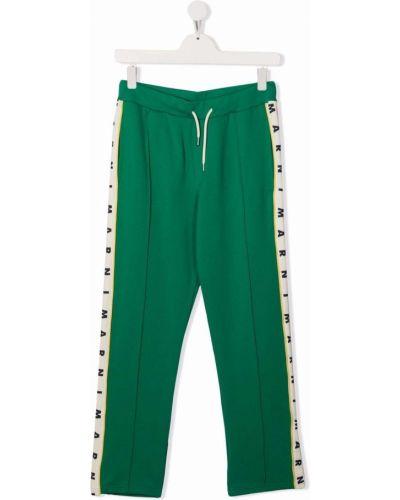 Zielone spodnie bawełniane Marni Kids