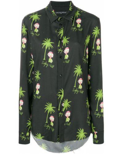 Классическая черная классическая рубашка на пуговицах Garcons Infideles