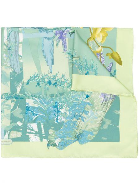 Зеленый шелковый платок Salvatore Ferragamo Pre-owned