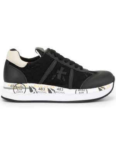 Кроссовки с логотипом черные Premiata