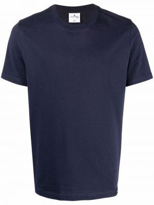 Niebieska t-shirt z haftem Courreges