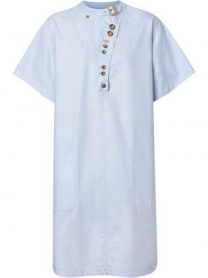 Платье мини короткое - синее Burberry