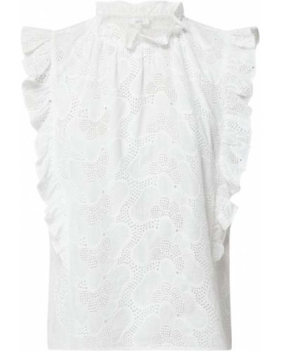 Biały top koronkowy bawełniany Jake*s Casual