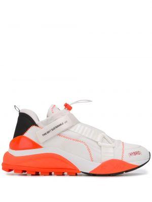 Białe sneakersy skorzane F_wd