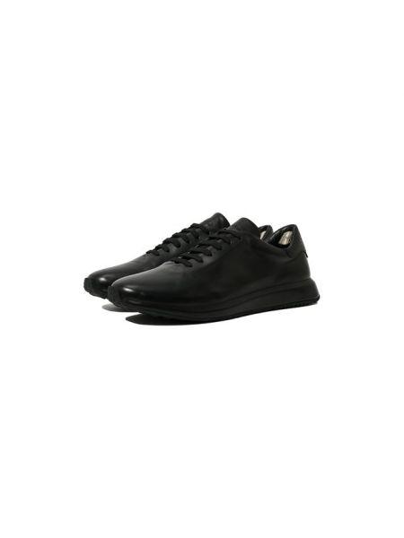 Кожаные черные кроссовки с подкладкой Officine Creative