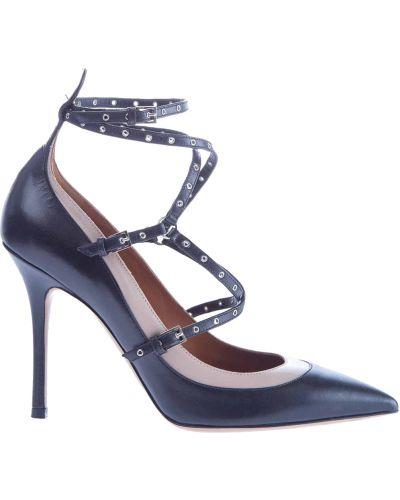 Туфли-лодочки на каблуке кожаные Valentino
