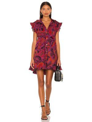 Платье мини с воротником - фиолетовое Free People