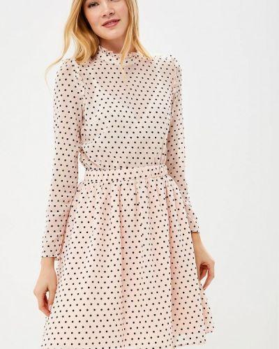 Розовое платье с длинными рукавами Incity