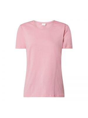Różowy t-shirt bawełniany Vila