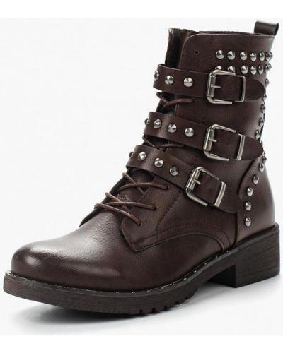 Кожаные ботинки осенние высокие Vera Blum