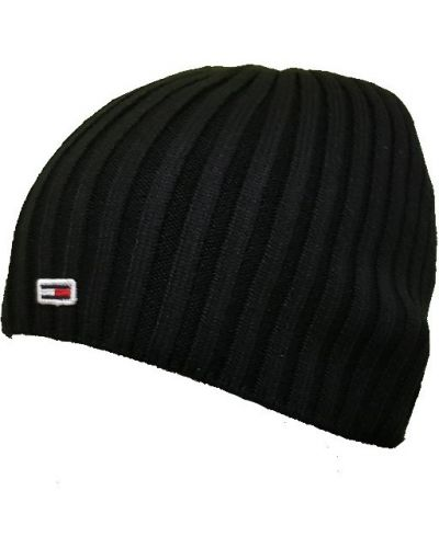 Хлопковая шапка - черная Tommy Hilfiger