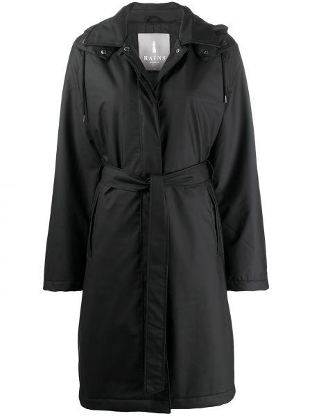 Пальто с капюшоном длинное стеганое Rains